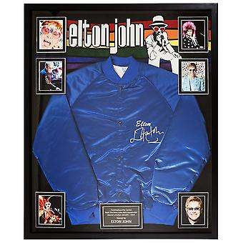 Elton John Signed Jacket AIDS Foundation Mama's Kitchen Benefit in Framed Case