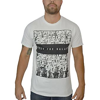 Star Wars Storm Troopers Rules The Galaxy Men's White T-Shirt
