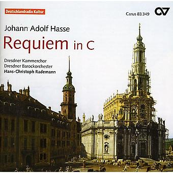 J.a. Hasse - Johann Adolf Hasse: Requiem i C [CD] USA import