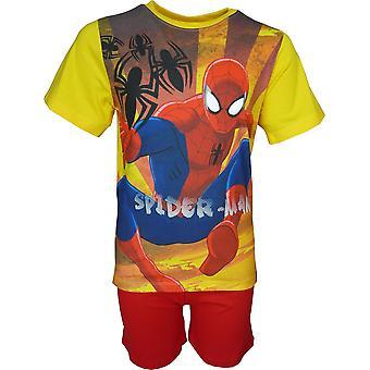 Marvel Spiderman Boys Pyjamas Set Short Sleeve
