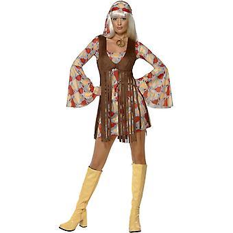 Abito Hippie anni 60 anni 70 3 pezzi donna a tema festa anni ' 70