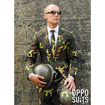Military suit Camo soldier commando slimline men's 3-piece premium