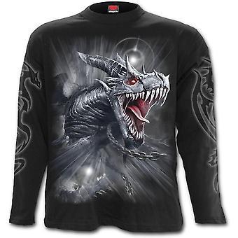 Spiral - DRAGON'S CRY - Men's Long Sleeve T-Shirt - Black