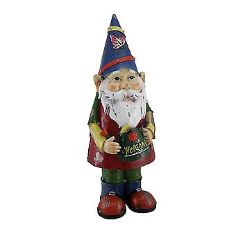 Herb the Garden Gnome Holding Watering Can Statue 17 inch