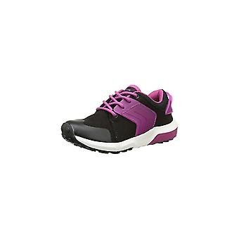Geox Girls Black Lace Up Trainers With Pink Rubber Design | Geox Asteroid