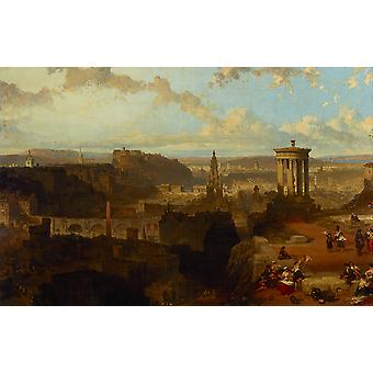 David Roberts - Edinburgh from the Calton Hill Poster Print Giclee