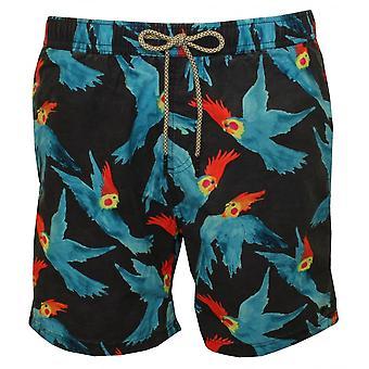 Scotch & Soda All-over Parakeet Print Swim Shorts, Navy/Blue