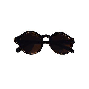 Urban stijl zonnebril met ronde glazen luipaard