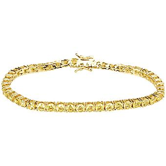 Iced out bling high quality strap - CANARY GOLD 1 ROW 4mm
