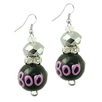 Witchy Witch Woman Halloween Rhinestone Glass Beaded Kate and Macy Earrings