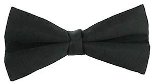 Michelsons of London Satin Silk Bow Tie - Black