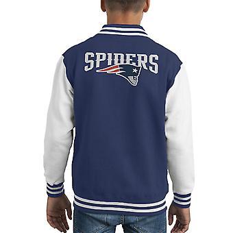 Varsity Jacket Spider hombre regreso Nueva Inglaterra Patriots infantil