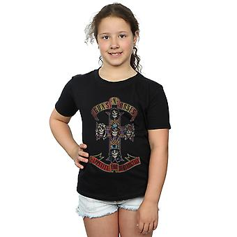 Guns N' Roses ragazze Appetite For Destruction Distressed t-shirt
