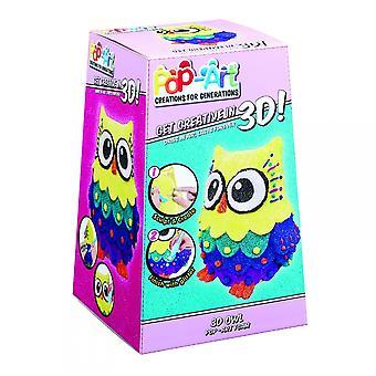 Flair 3D Owl Pop Art Sculpture Kit*