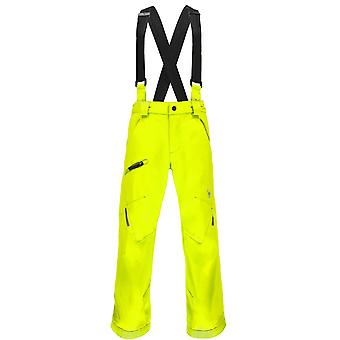 Spyder QUEST boy's propulsion young ski pants yellow