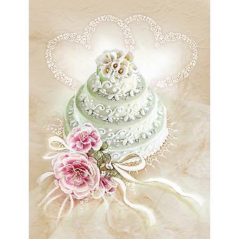 Carolines Treasures  APH3648GF Wedding Cake Flag Garden Size