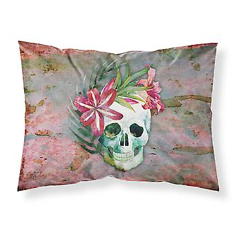Day of the Dead Skull Flowers Fabric Standard Pillowcase