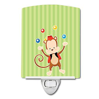 Carolines Treasures  BB8696CNL Monkey Juggler Ceramic Night Light