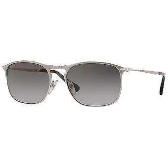 Persol 7359S wide silver gray polarized gradient