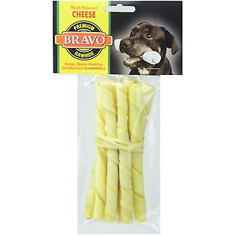 Bravo Cheese Twist Palito 5 'Pack 10 units (Dogs , Treats , Bones)