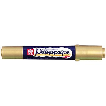 Permapaque Paint Marker Dual Point Carded Metallic Gold Ppm 58307