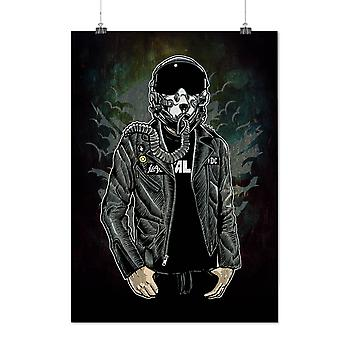Matte or Glossy Poster with Jet Pilot Cool Fashion | Wellcoda | *d2802