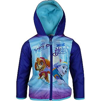 Girls DHQ1599 Paw Patrol Lightweight Hooded Jacket with Bag