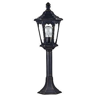 Maytoni Lighting Oxford Outdoor Collection Post Top Coach Lantern, Bronze