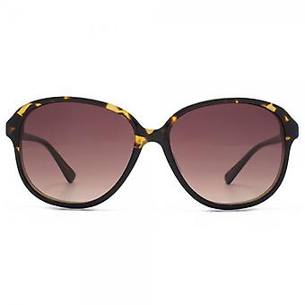 French Connection Premium Retro Glam Sunglasses In Graduated Tortoiseshell
