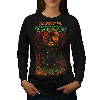 Scarecrow Night Horror Women BlackSweatshirt | Wellcoda