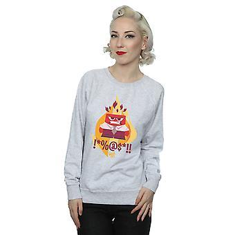 Disney Women's Inside Out Fired Up Sweatshirt