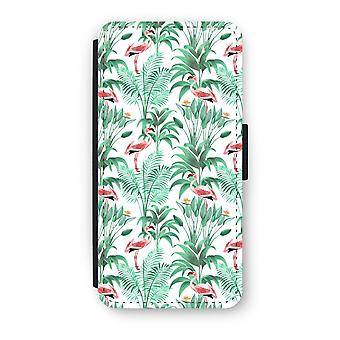 Samsung Galaxy S8 Flip Case - Flamingo leaves