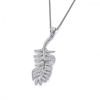 Cavendish French Fine Feather Silver and CZ Pendant without Chain