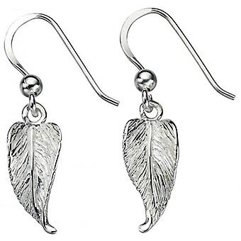 Beginnings Leaf Drop Earrings - Silver