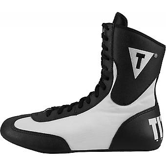 Title Boxing Speed-Flex Encore Mid-Length Boxing Shoes - Black/White