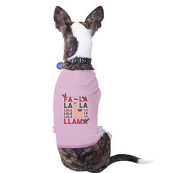 اللاما فالالا القطن قميصا الحيوانات الأليفة الحيوانات الأليفة عطلة لطيف وردي هدايا ملابس الكلاب الصغيرة