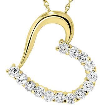 1 1 / 20ct Diamond Heart hanger 14K Yellow Gold 1