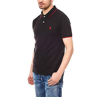 U.S. POLO ASSN. Men's polo shirt short-sleeved black