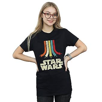 Star Wars Women's Retro Rainbow Boyfriend Fit T-Shirt