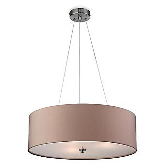 Firstlight Phoenix Pendant In Taupe With Frosted Diffuser