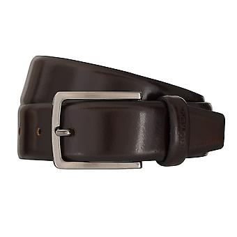 OTTO KERN belts men's belts leather belt dark brown 7021