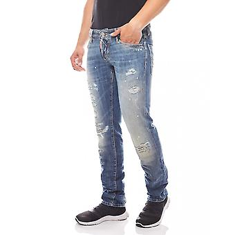 DSQUARED2 men's Blau used look designer jeans