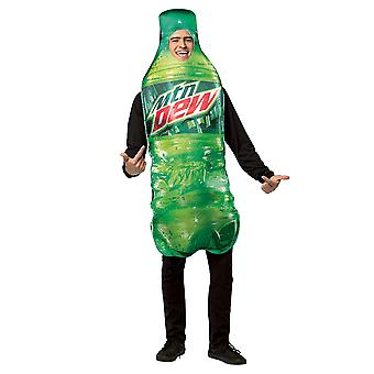 Mountain Dew Get Real Bottle Soft Drink Comical Party Mens Costume OS