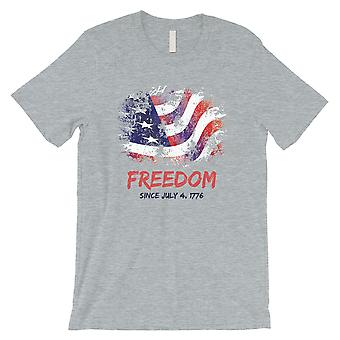 Freedom Since Mens Grey T-Shirt July 4th Outfit Funny Graphic Tee