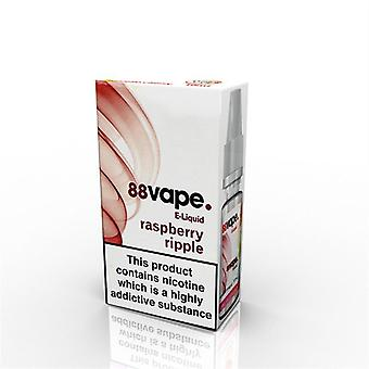 88 Vape E-Liquid Nicotine 11mg Raspberry Ripple 10ML