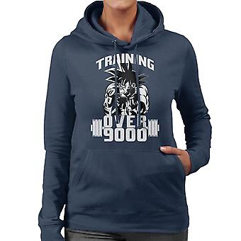 Dragon Ball Z Goku Training Over 9000 Women's Hooded Sweatshirt