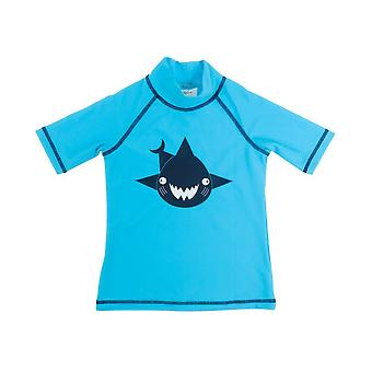 Banz Kids UV Short Sleeved Rash Top - Shark - Turq