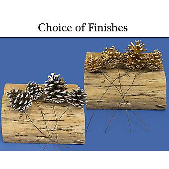 Single Pine Cone on Wire for Christmas Floristry Crafts