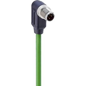 Belden 934726002 Sensor/actuator data cable (pre-fab) M12 Plug, right angle 5 m No. of pins (RJ): 4 1 pc(s)