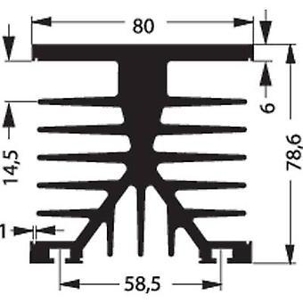 Heat sink 1 C/W (L x W x H) 100 x 75 x 87 mm Fischer Elektronik SK 89 100 KL-SSR2